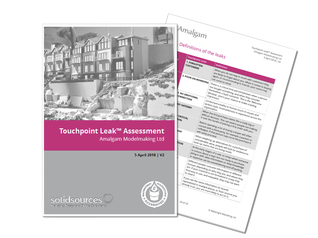 Watertight Marketing Touchpoint Leak Assessment report