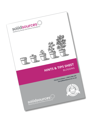 Solid Sources Tip Sheet - Blogging transparent
