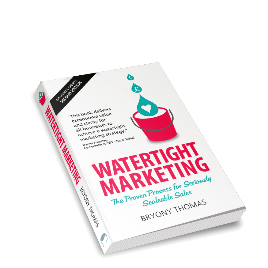 Watertight Marketing Book - Second Edition-Angled transparent