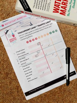 Traffic Light score sheet Watertight Marketing