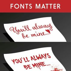 Fonts matter example