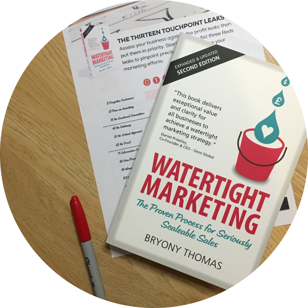TPLA scoresheet and book Watertight Marketing circle